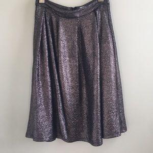 Lucy Paris | textured metallic Circle Midi Skirt